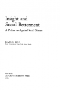Insight and social betterment :a preface to applied social science