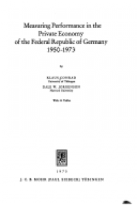 Measuring performance in the private economy of the Federal Republic of Germany :1950-1973