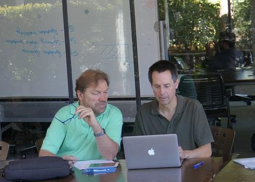Co-directors Woody Powell (left) and Robert Gibbons