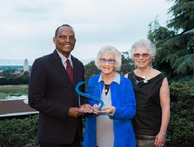 2017 SAGE-CASBS Award winner William Julius Wilson with Sara Miller McCune and Margaret Levi